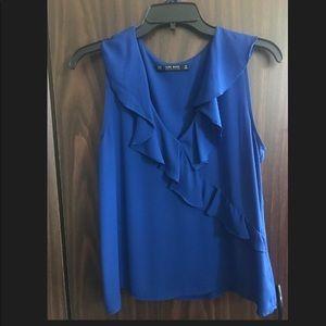 Very pretty Zara top in electric blue